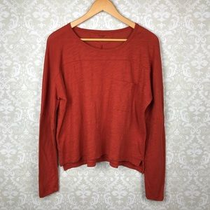 MADEWELL Rust Burnout Effortless Long Sleeve Tee